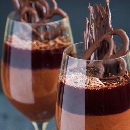 Шоколадов крем с Малиново вино