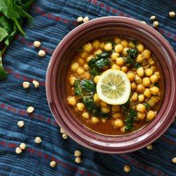 Марокански нахут със спанак