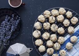 Масленки с лавандула и печени бадеми
