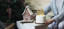 Тиквена торта с крема сирене